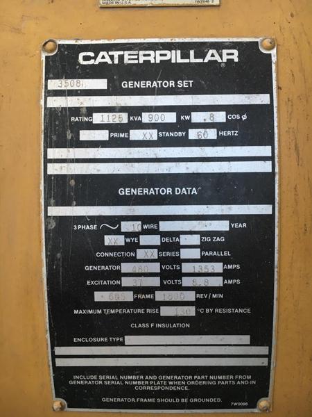 Máy Phát Điện CAT 1125KVA